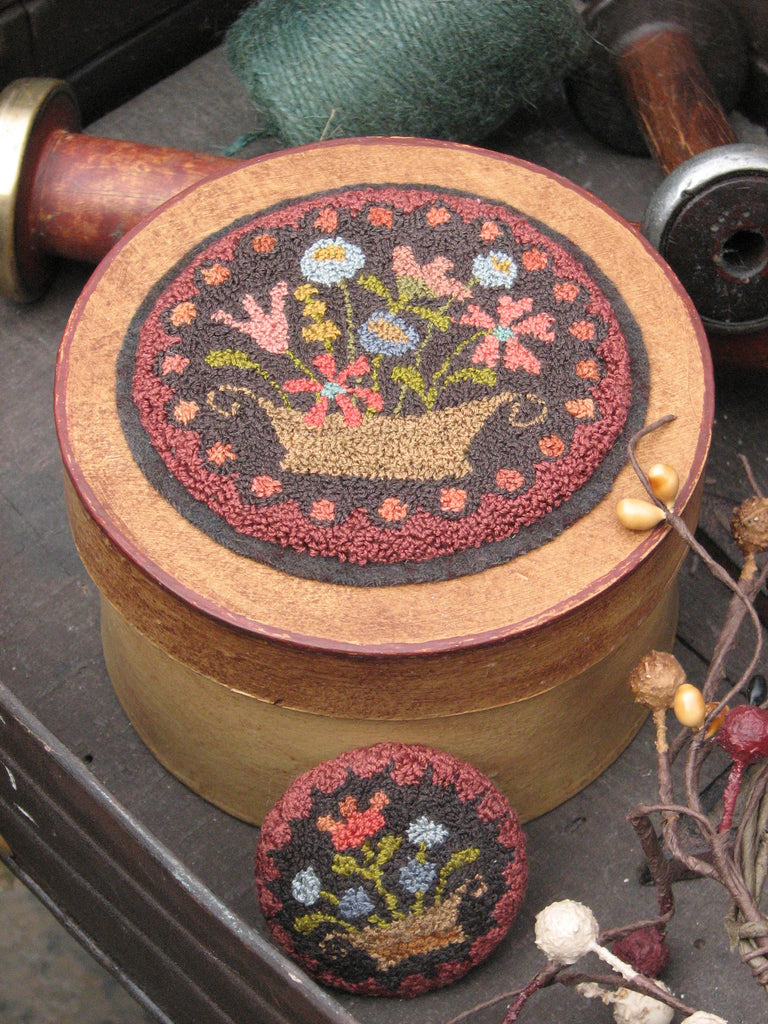 Old Flower Box and Button