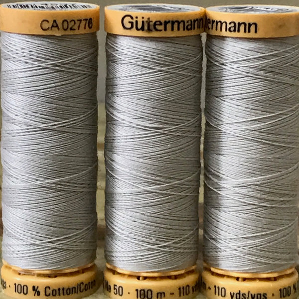 Gutermann - 4507- Light Grey Cotton Thread