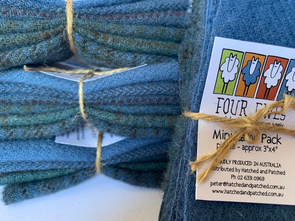 Woven Wool - Blue Bottle Mini Lamb Pack