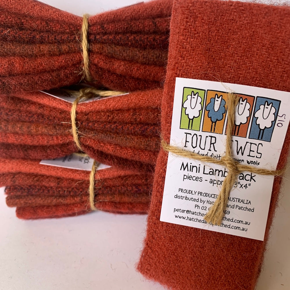 Woven Wool - Cherry Bomb Mini Lamb Pack