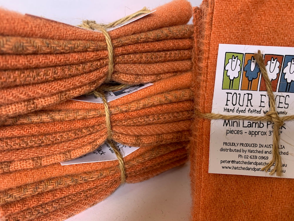 Woven Wool - Cumquat Mini Lamb Pack
