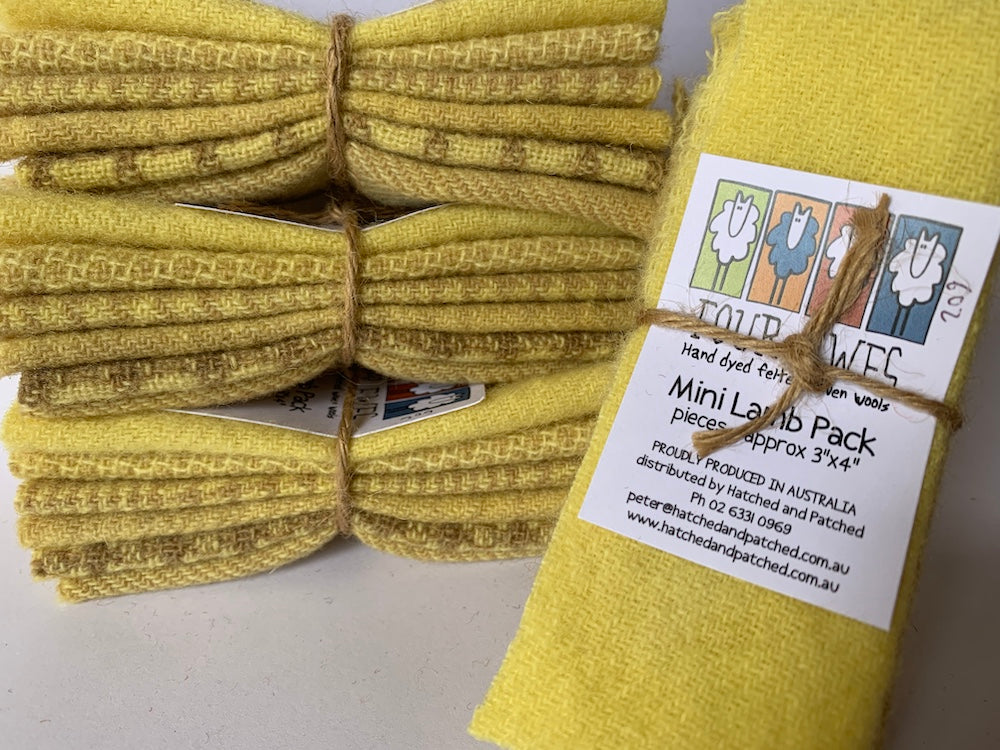 Woven Wool - Lemon Sherbert Mini Lamb Pack