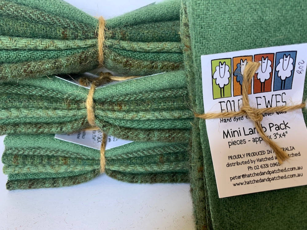 Woven Wool - Moss Pot Mini Lamb Pack