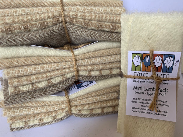 Woven Wool - Not Quite White Mini Lamb Pack