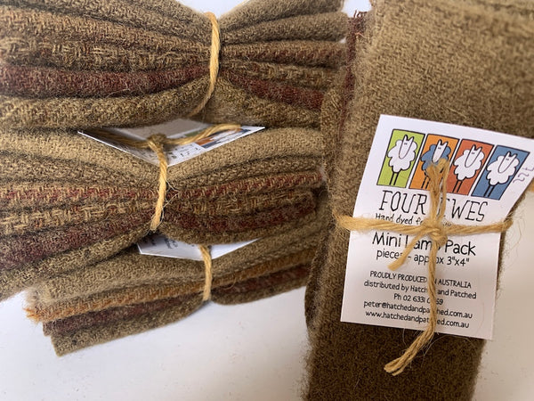 Woven Wool - Bunyip Brown Mini Lamb Pack