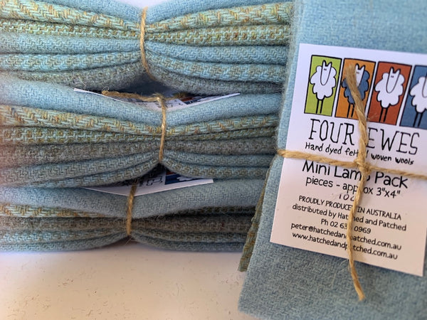Woven Wool - Periwinkle Blue Mini Lamb Pack