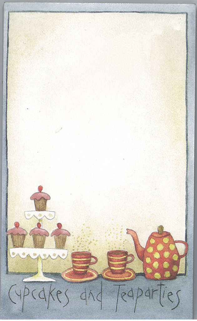 Cupcakes and Tea Parties Notepad