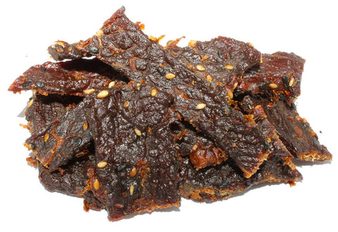 pile of beef jerky