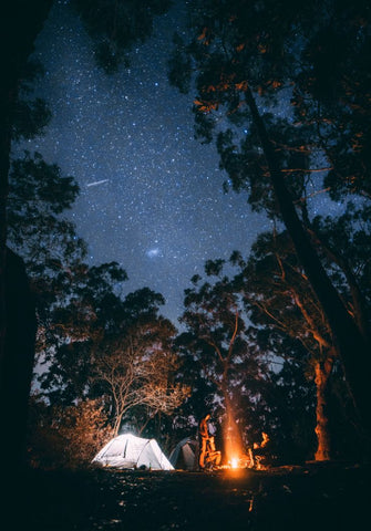 camp site under the stars