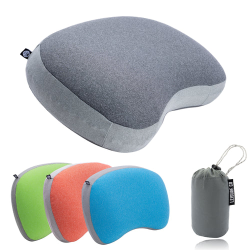 Ultralight Inflatable Camping & Backpacking Pillow (Grey)