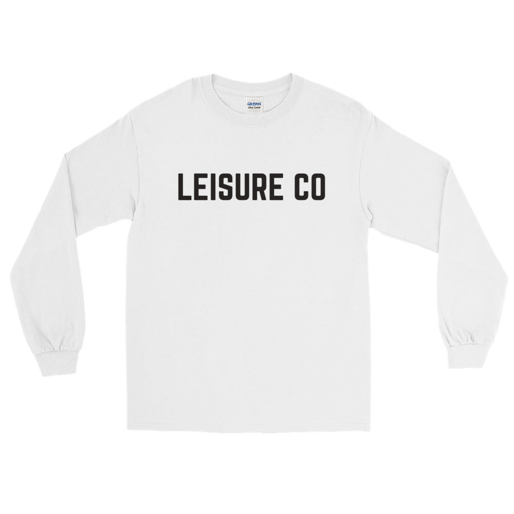 Long Sleeve Type Logo Tee (White)