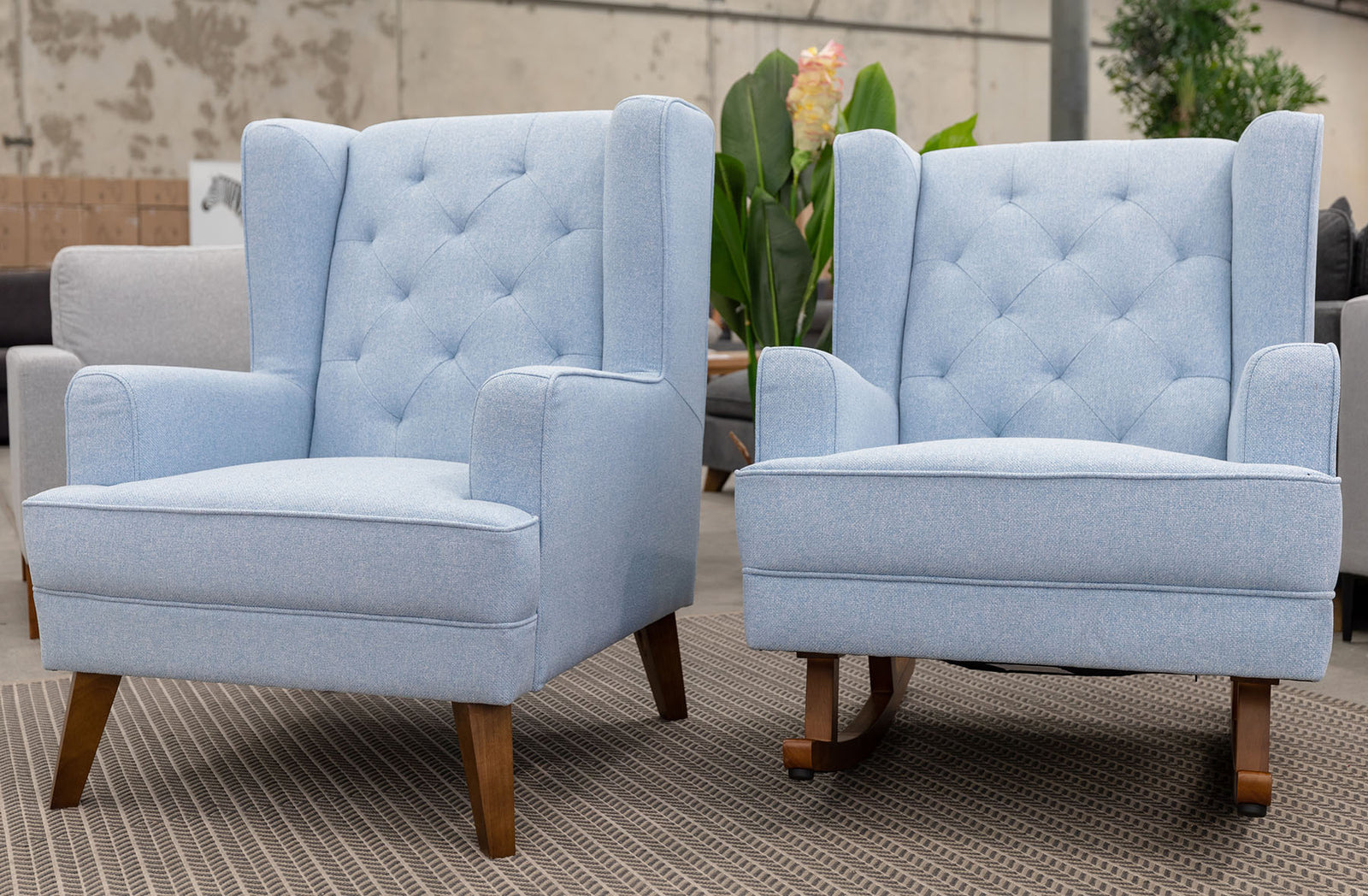 Clara Rocking Chair - Sky Blue