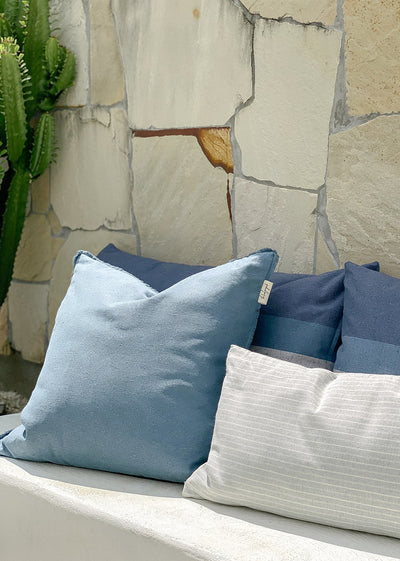 blue lounge cushion