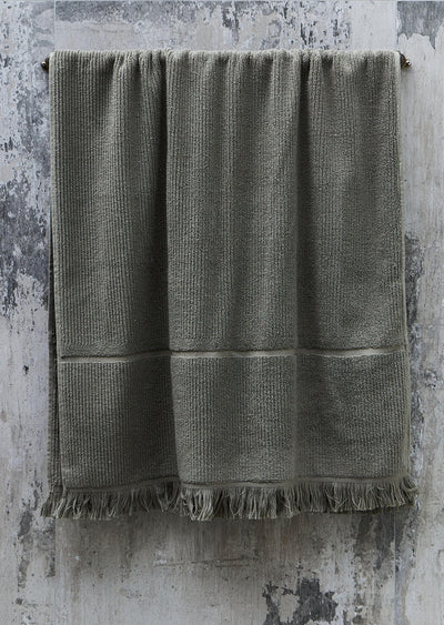 olive bath towel