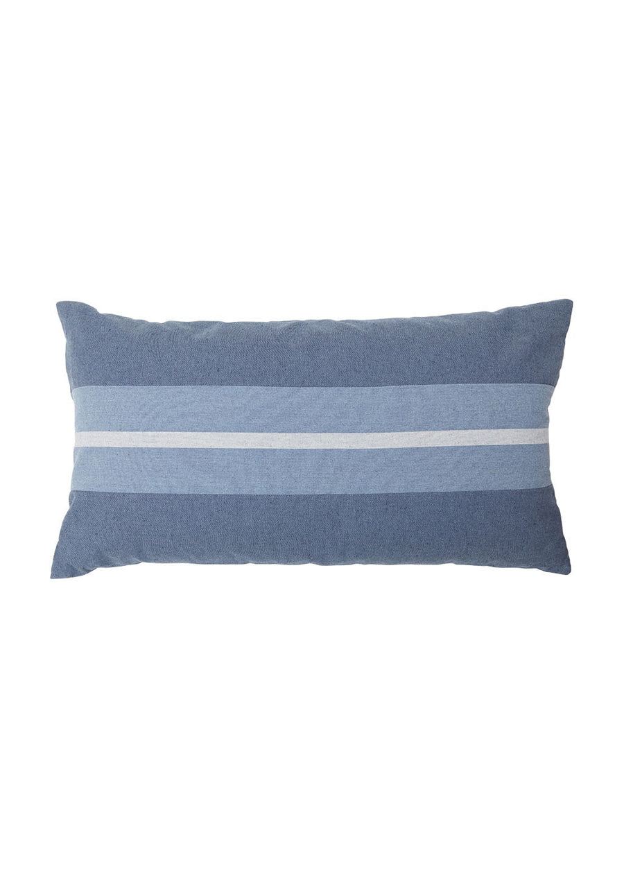 Stripe Denim Cushion 33x18