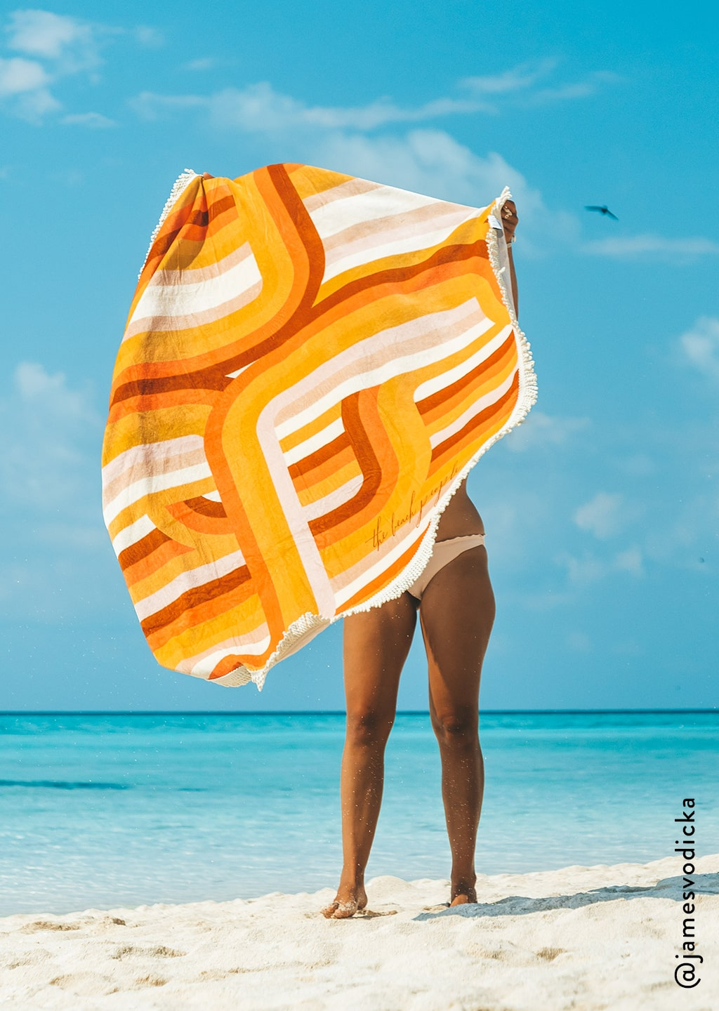 bright beach towel