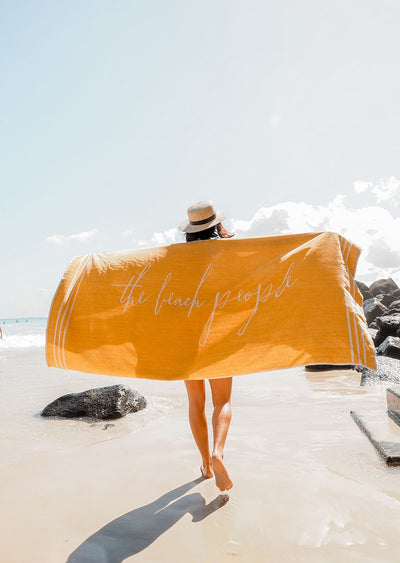 bright big beach towel