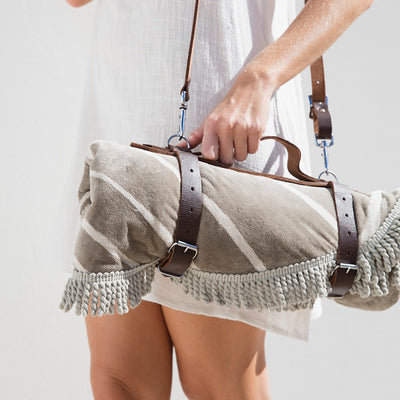 Leather Carrier for Yoga mat or Beach Towel