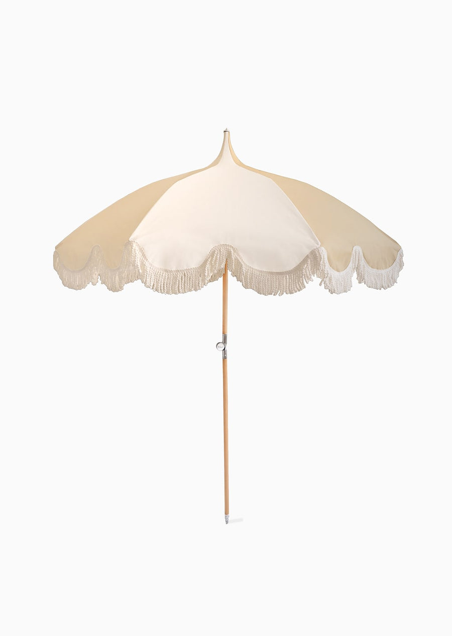 Umbrella - Cream and White Stripe