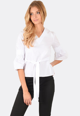Aria V-Neck Flare Sleeve Top