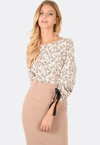 Kylie Gathered Sleeve Top