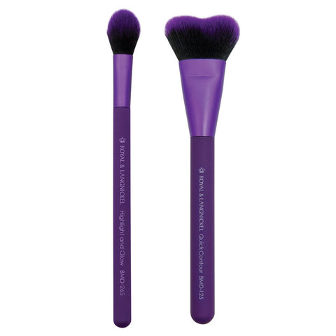 MODA PERFECT PAIRS INSTA-GLOW KIT Highlight & Contour Makeup Brush Set
