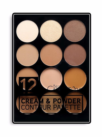 12 COLOR CREAM & CONTOUR PALETTE