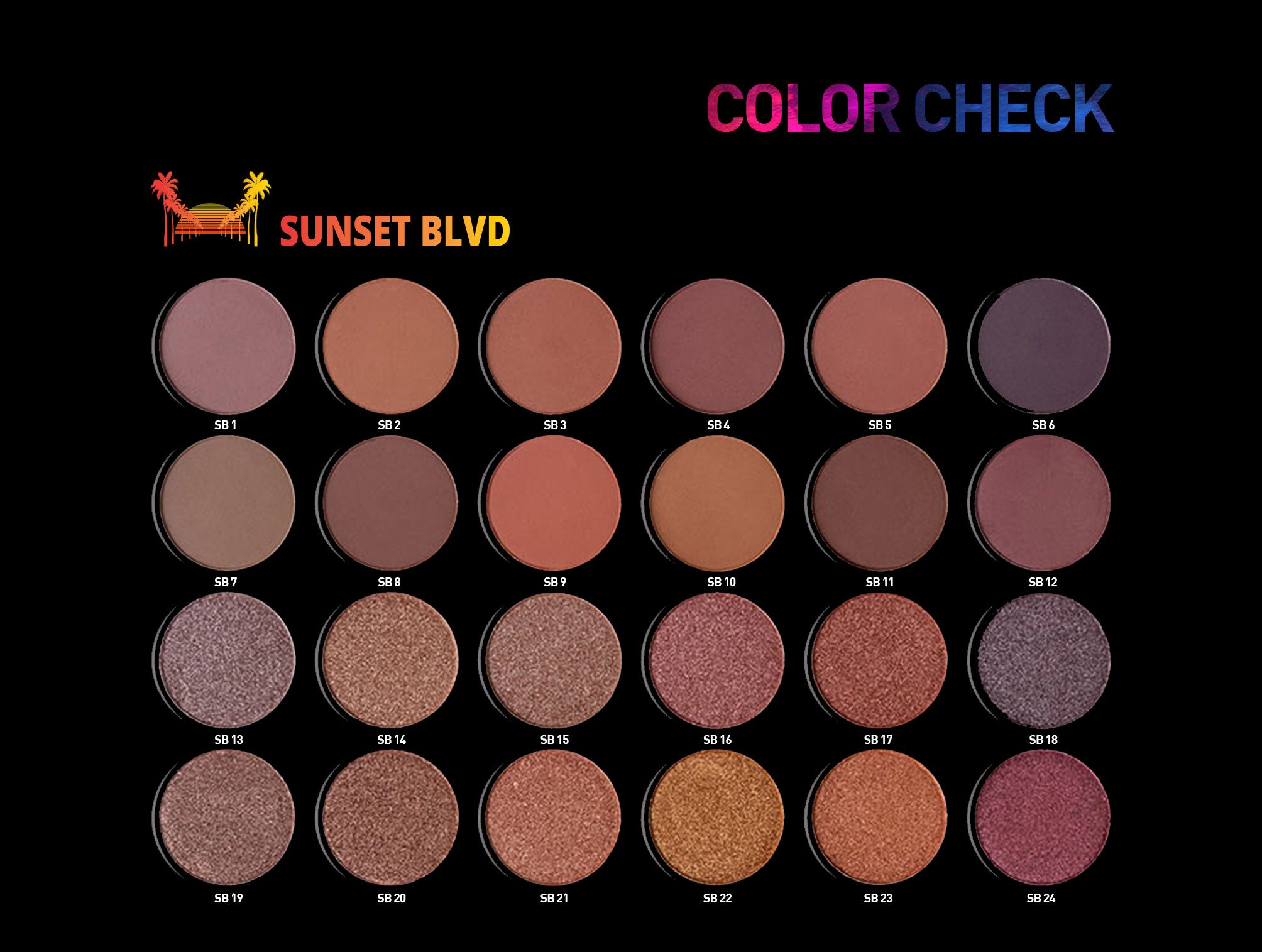 Sunset Blvd - 24 Shade Eyeshadow Palette ESP101