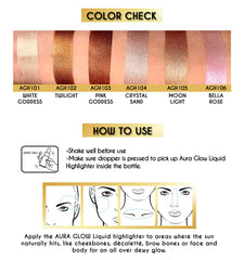 Aura Glow Liquid Highlighter - Bella Rose