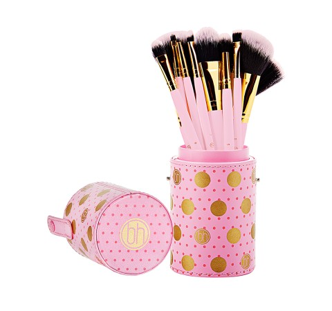 BH Cosmetics Dot Collection - 11 Piece Makeup Brush Set Pink