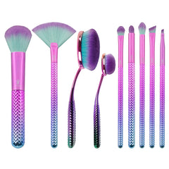 MODA PRISMATIC 10PC DELUXE GIFT KIT Makeup Brush Set