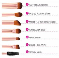 Shimmering Bronze - 12 Piece Makeup Brush Set
