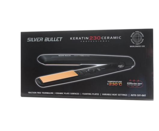 Silver Bullet Keratin 230C Ceramic Hair Straightener 25mm