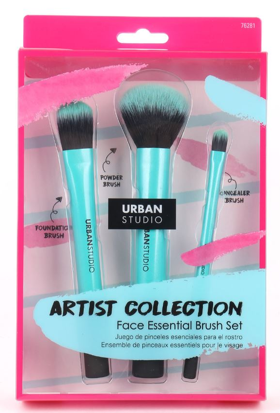 Aqua Glam Face Essential Brush Set