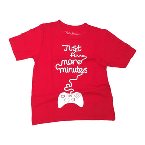Just Five More Minutes Kids T Shirt
