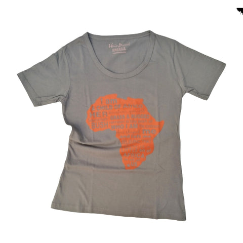 Child of Africa Print T Shirt