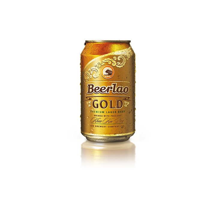 Beerlao Gold 330ml can CHILLED