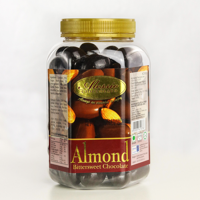 ALESSIO	ALMOND BITTER SWEET CHOCOLATE (JAR)	450G
