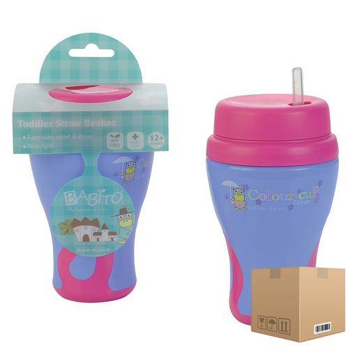 BOX OF 12  Babito Toddler Sipper Training Cup Step 3 18 Months+