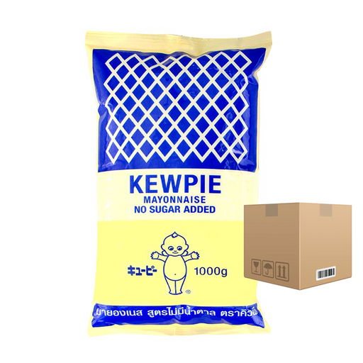 BOX OF 12 Kewpie Mayonnaise No Sugar Added 1000 ml