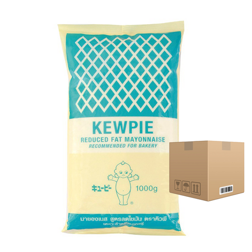 BOX OF 12 Kewpie Reduced Fat Mayonnaise Recommended For Bakery 1000 ml
