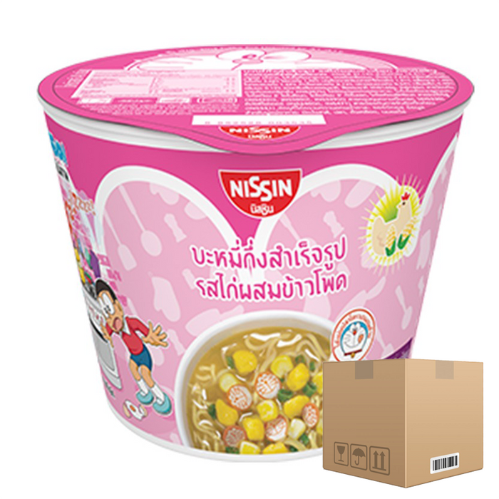 BOX OF 12 packs Instant Noodles Chicken with Corn Flavour (NISSIN Brand) 40g per pack of 6 cups