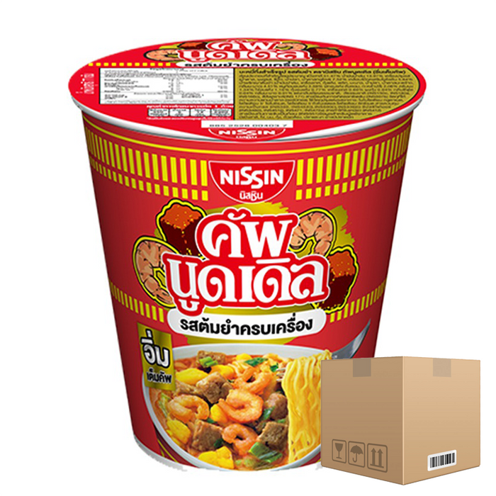 BOX OF 12 packs Instant Noodles Tomyum Flavour NISSIN Cup Noodles Brand (Im Tem Cup) 77g per pack of 6 cups