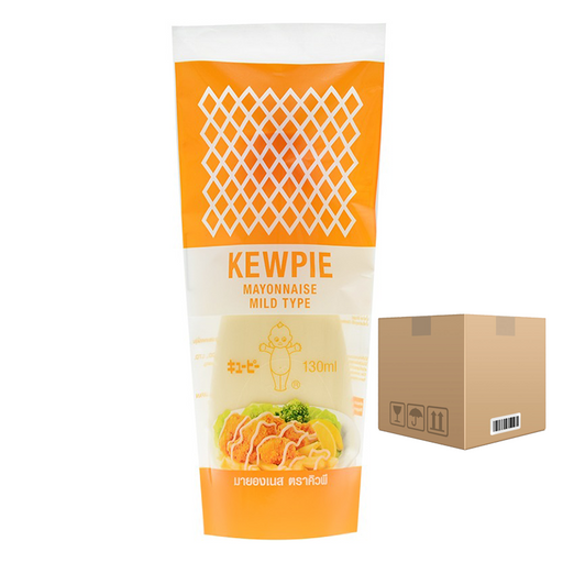 BOX of 24 Kewpie Mayonnaise Mild Type 130 ml