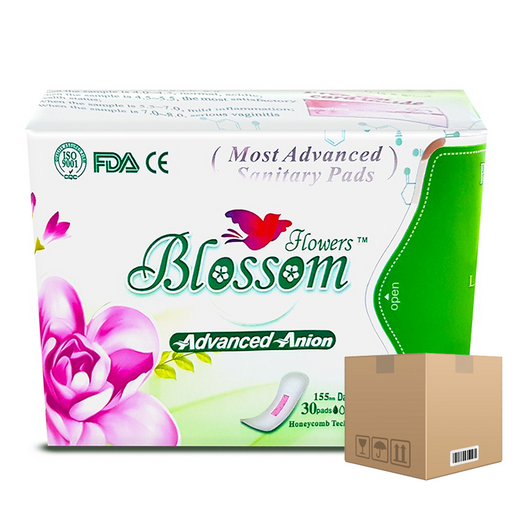 BOX OF 24 packs Blossom Flowers Pads (Daily use) Size 155 mm pack of 30 pieces