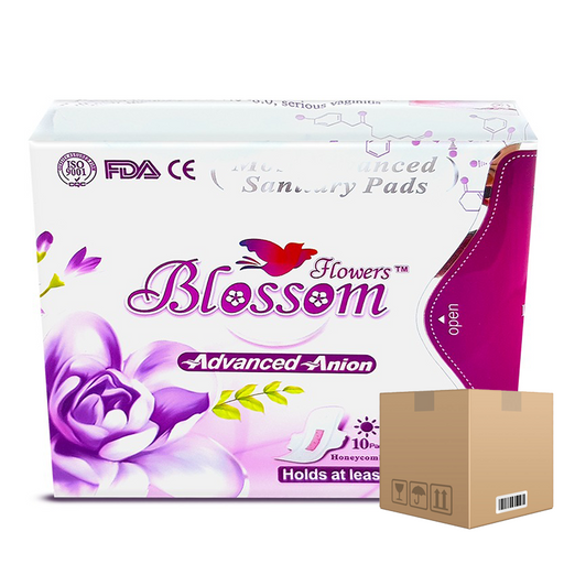 BOX OF 24 packs Blossom Flowers Pads (Day) Size 245 mm pack of 12 pieces