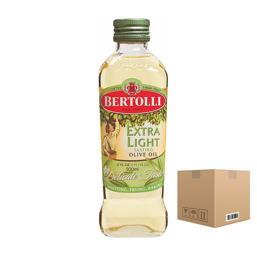 BOX OF 6 bottles Bertolli Extra Light 1L