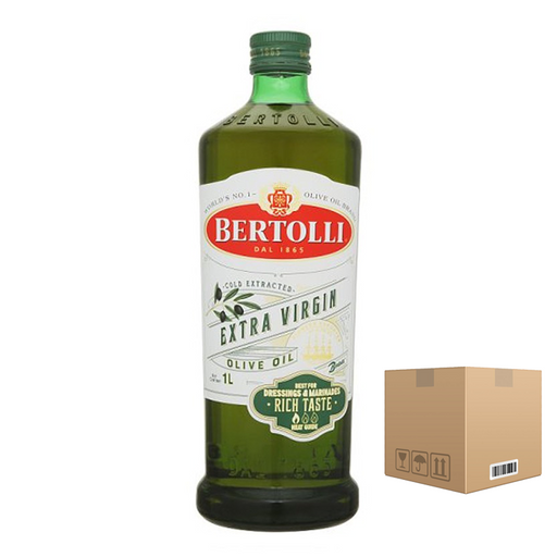 BOX OF 6 bottles Bertolli Extra Virgin 1L