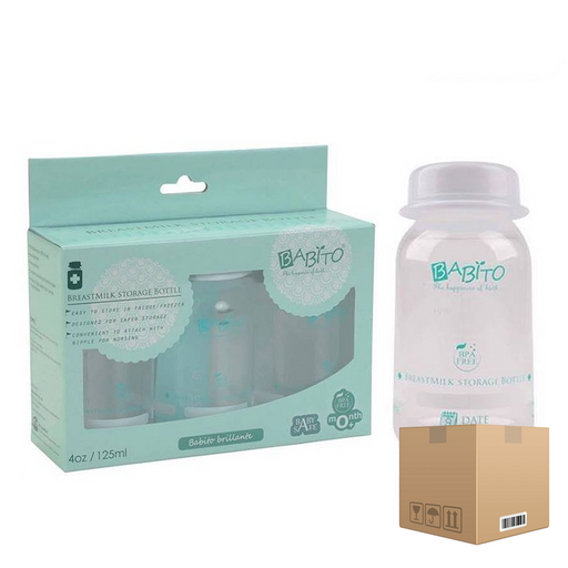 BOX OF 6 sets Babito BPA-Free Breast Milk Storage Bottle (3 Pack) 125 ml / 4 Oz 0 Months+