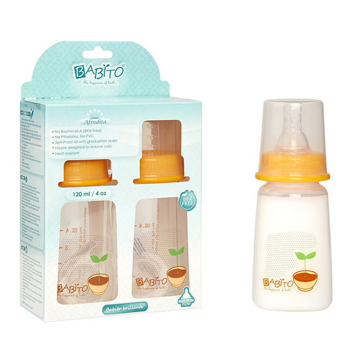 Babito BPA-Free Baby Feeding Bottle, Afrodita 120ml / 4 Oz 3-6 Months